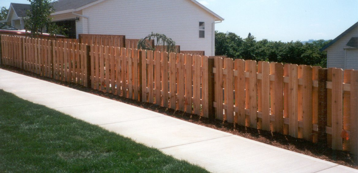 4 Foot High Wood Fencing http://www.georgeandgabe.com/htm/fences2.htm